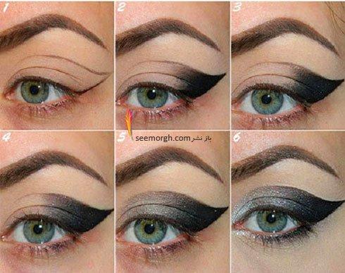 آموزش مرحله به مرحله آرایش چشم گربه ای خاص