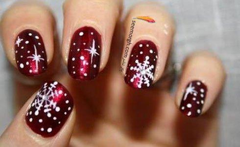طرح های خاص ناخن ویژه زمستان و کریسمس جدید