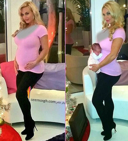 کوکو آستین در زمان بارداری و بعد از آن