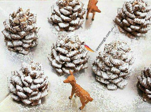 دسر درخت کاج برای کریسمس