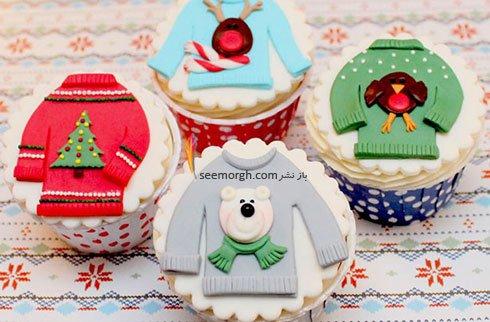تزیین زیبای کاپ کیک برای کریسمس