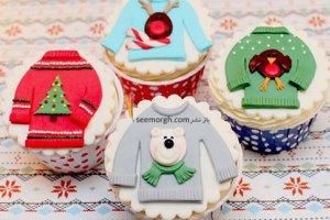 تزئین زمستانی کاپ کیک های تولد