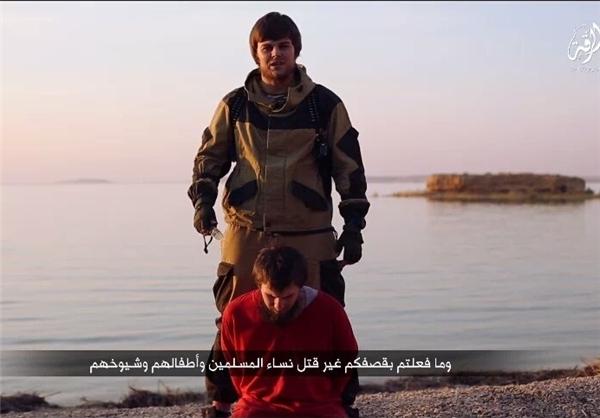 داعش یک گروگان روس را سر برید +عکس