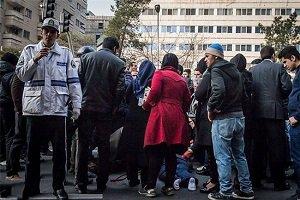 دختر جوان در اثر تصادف در میدان فاطمی تهران فوت کرد