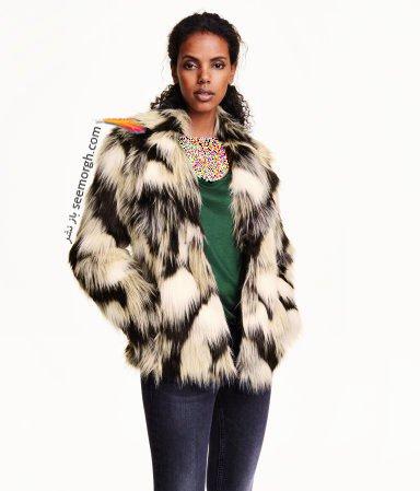 کت کوتاه پوست دو رنگ زنانه اچ اند ام H&M برای زمستان 2016
