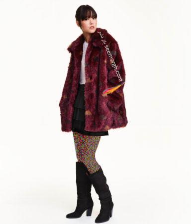 کت کوتاه پوست طرح دار زنانه اچ اند ام H&M برای زمستان 2016