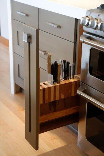 کشوی چاقوها در دکوراسیون آشپزخانه