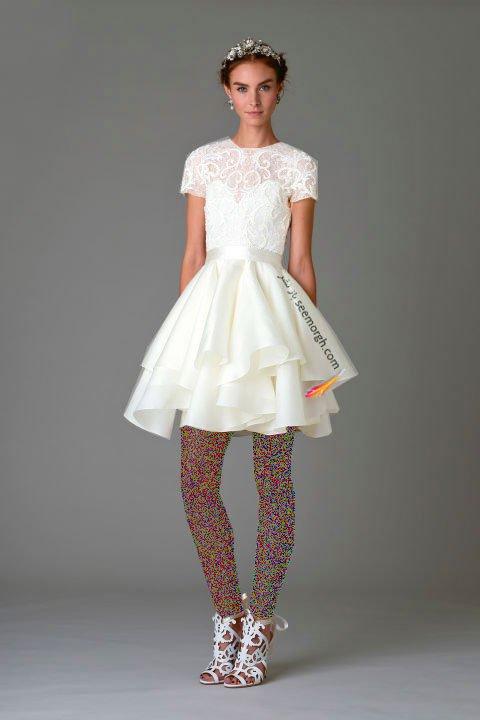 لباس عروس کوتاه در هفته مد لندن - مدل شماره 8