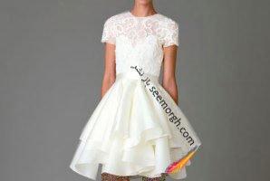 متفاوت و خاص ترین لباس عروس های کوتاه در هفته مد لندن