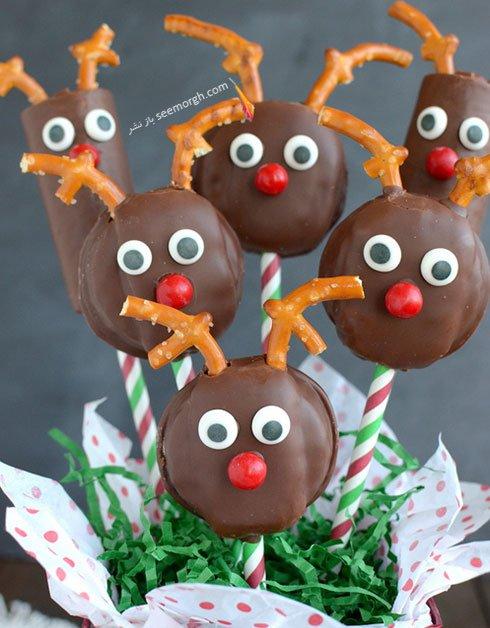 آموزش شیرینی به شکل گوزن برای کریسمس
