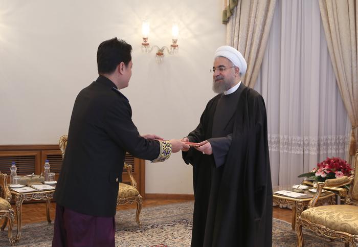 دیدار حسن روحانی با سفیر کامبوج /تصاویر