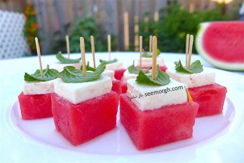 تزیینات متفاوت و لوکس هندوانه برای شب یلدا - شماره 4