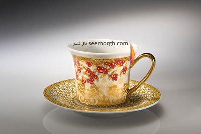 فنجان نعلبکی طلایی ورساچه Versace برای کریسمس