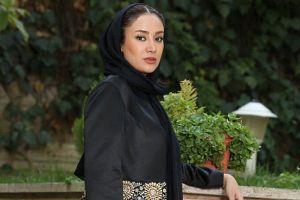 تیپ زیبای بهاره افشاری در حاشیه نمایشگاه مد و لباس تهران