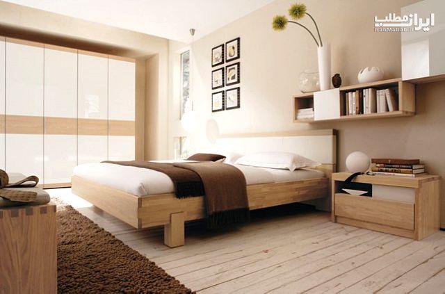 تزیین بالای تخت خواب مدل تخت خواب