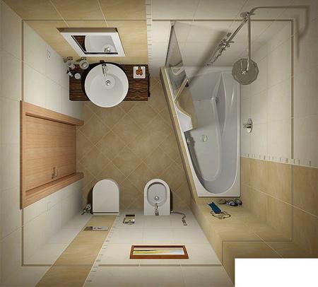 مدل های جدید از حمام و دستشویی از نمای بالا + عکس