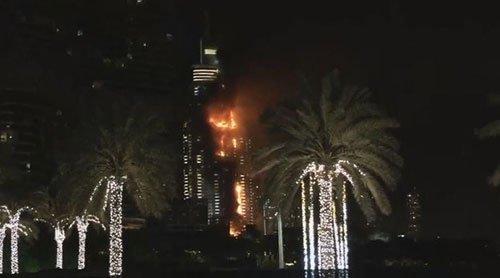 هتل 63 طبقه در دبی آتش گرفت