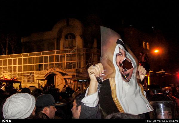 سفارت عربستان در ایران در آتش سوخت +عکس