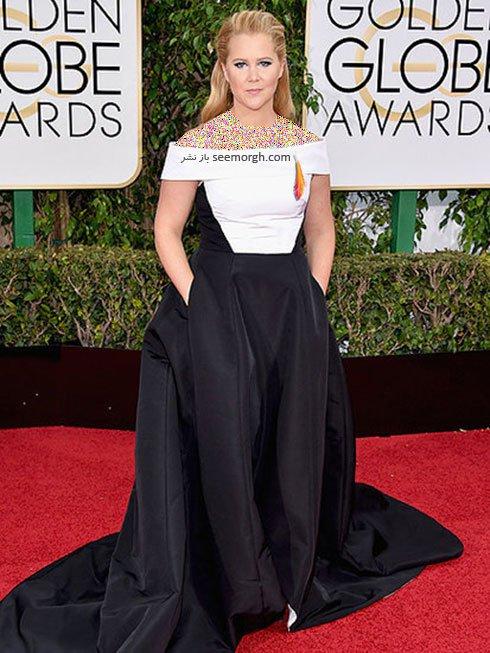 مدل لباس ایمی شومر Amy Schumer در گلدن گلوب Golden Globes 2016