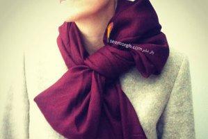 شال گردن تان را به شڪل یڪ پاپیون زیبا گره بزنید!! + آموزش تصویری