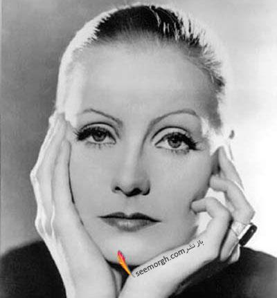 استفاده از حقهی سایهی چشم Greta Garbo
