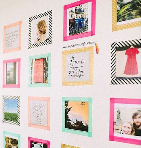 قاب عکس های رنگی برای یک دیوار زیبا