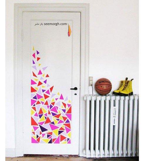 یک درب رنگی خاص و متفاوت درست کنید