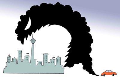 کاریکاتور آلودگی هوا, آلودگی هوا, عکس های خنده دار