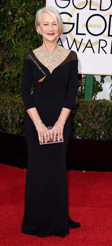 مدل لباس هلن میرن Helen Mirren در گلدن گلوب Golden Globes 2016