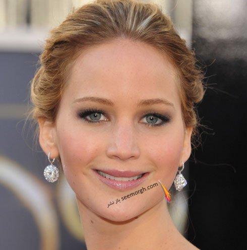 آرایش چشم عروس به سبک Jennifer Lawrence جنیفر لارنس