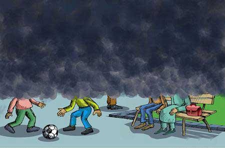کاریکاتور آلودگی هوا,آلودگی هوا