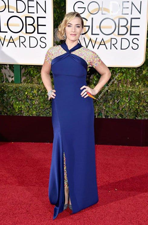 مدل لباس کیت وینسلت Kate Winslet در گلدن گلوب Golden Globes 2016