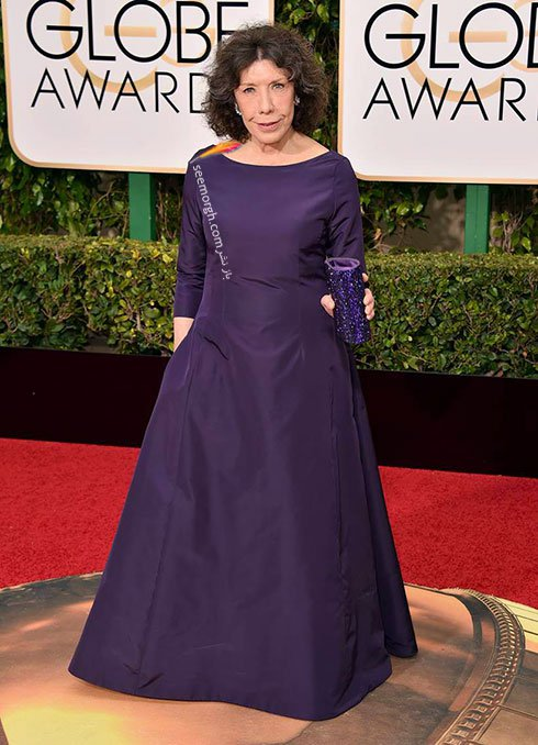 مدل لباس لی لی تاملین Lily Tomlin در گلدن گلوب Golden Globes 2016