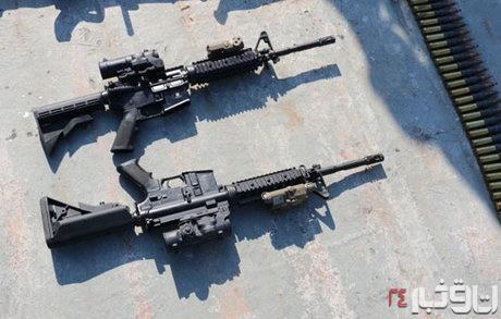 سلاحهای کشف شده از شناور آمریکایی 2