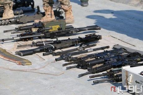 سلاحهای کشف شده از شناور آمریکایی 3
