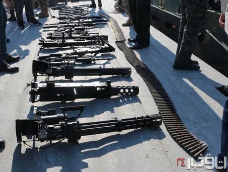 سلاحهای کشف شده از شناور آمریکایی 4