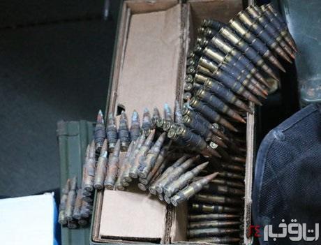 سلاحهای کشف شده از شناور آمریکایی 5