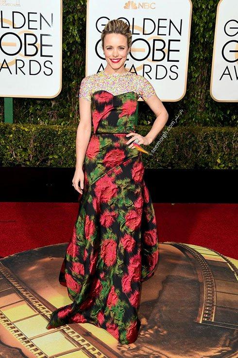 مدل لباس راشل مک آدامز Rachel McAdams در گلدن گلوب Golden Globes 2016