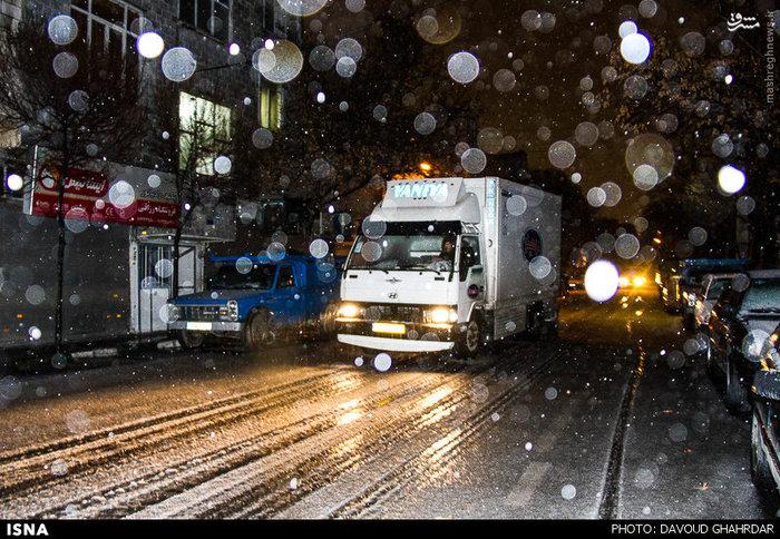 عکسهای زیبا از بارش برف تهران امروز تیر 97