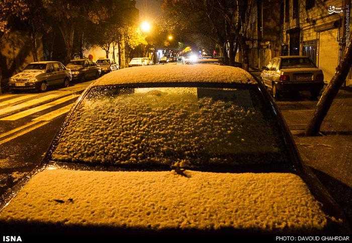 عکس برف تهران امروز