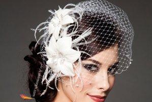 مدل موی عروس با تور کوتاه، جدیدترین مدل تزیین موی عروس
