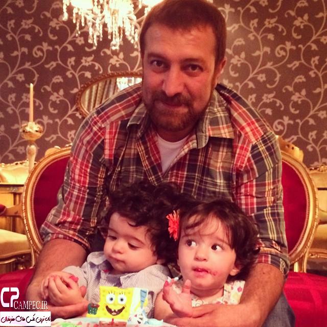 عکس مجید صالحی با دخترانش