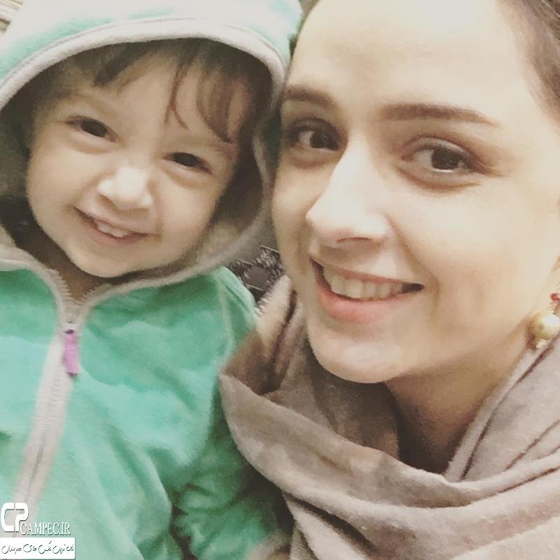 عکس شخصی ترانه علیدوستی با دخترش