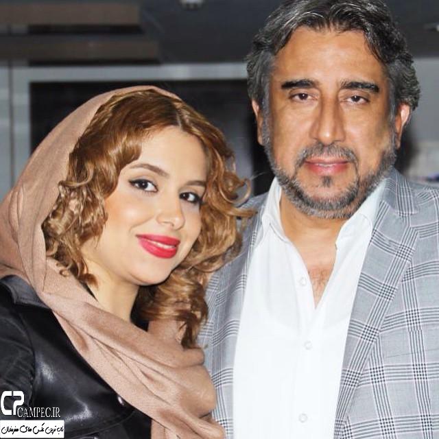 عکس شخصی محمود دینی با دخترش