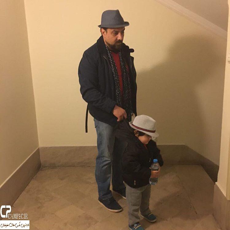 عکس جدید برزو ارجمند با پسرش