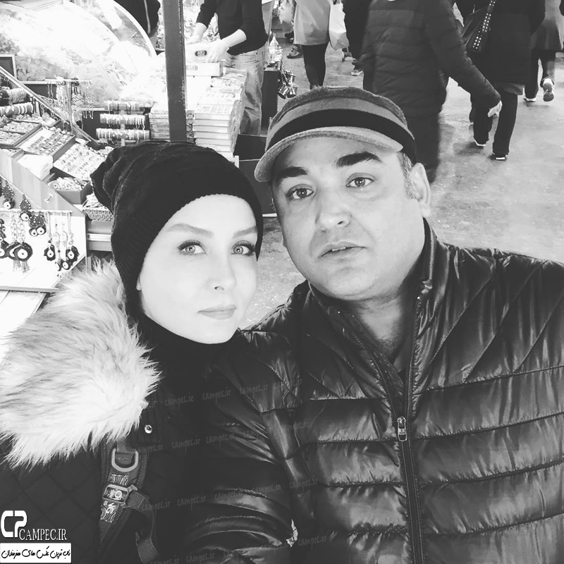 تصاویر داغ و زمستانی بازیگران با همسرشان + عکس