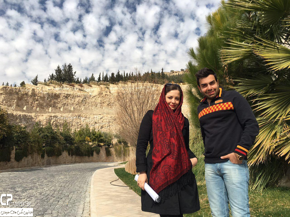 مهراوه شریفی نیا در پشت صحنه برنامه خوشا شیراز