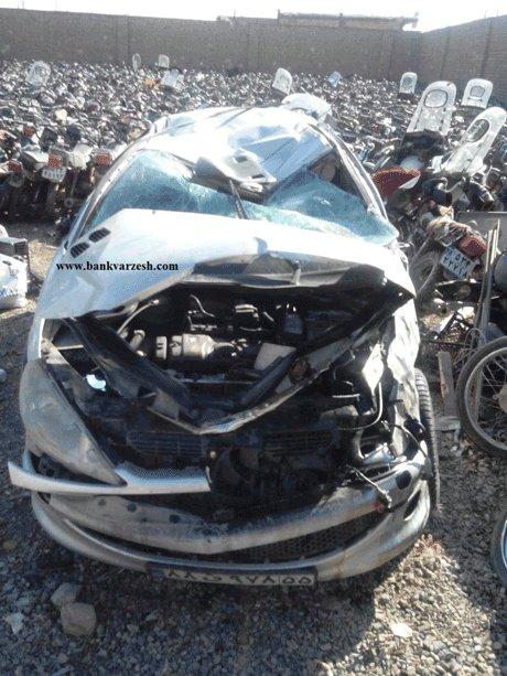 خودروی ورزشکار ملی پوش ایران بعد از تصادف هولناک +عکس