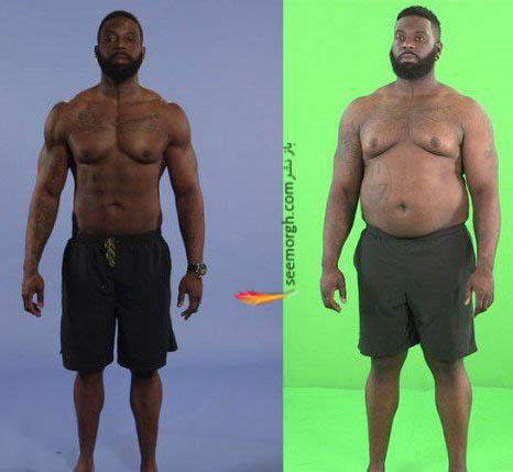 آقای مربی قبل و بعد از افزایش وزن