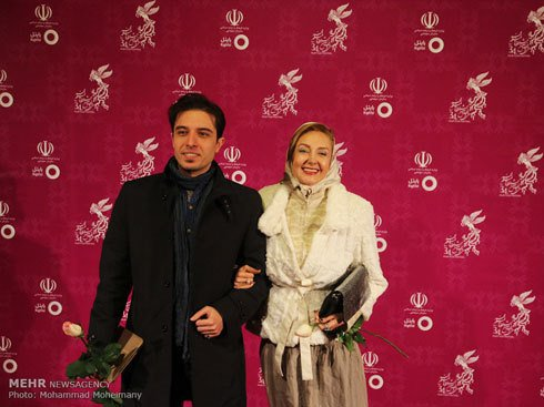 مدل کتایون ریاحی در سی و چهارمین جشنواره فیلم فجر